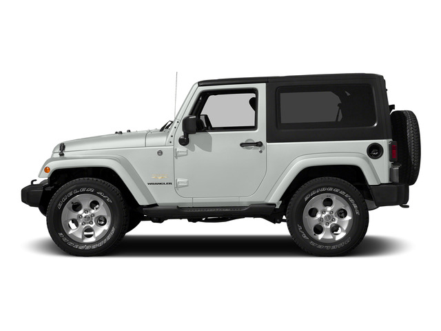 Bright White Clearcoat 2015 Jeep Wrangler Pictures Wrangler Utility 2D Sahara 4WD V6 photos side view
