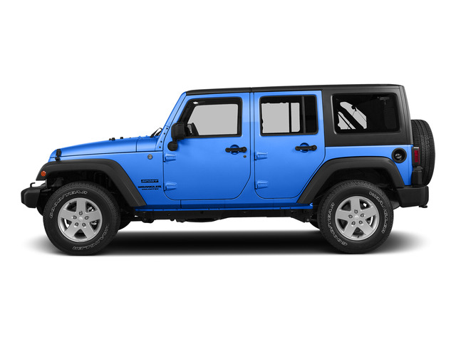 Hydro Blue Pearl Coat 2015 Jeep Wrangler Unlimited Pictures Wrangler Unlimited Utility 4D Unlimited Sport 4WD V6 photos side view