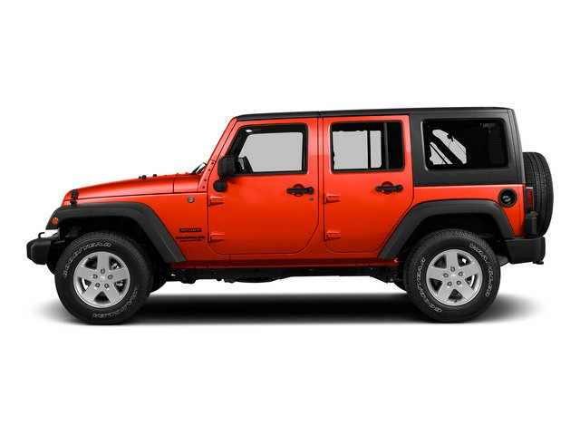 Firecracker Red Clear Coat 2015 Jeep Wrangler Unlimited Pictures Wrangler Unlimited Utility 4D Unlimited Sport 4WD V6 photos side view