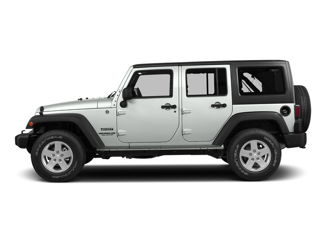 Bright White Clearcoat 2015 Jeep Wrangler Unlimited Pictures Wrangler Unlimited Utility 4D Unlimited Sport 4WD V6 photos side view