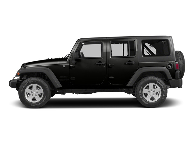 Black Clearcoat 2015 Jeep Wrangler Unlimited Pictures Wrangler Unlimited Utility 4D Unlimited Sport 4WD V6 photos side view