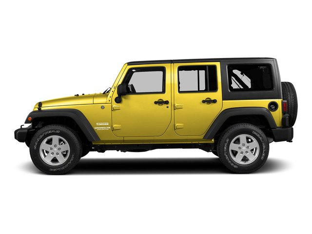 Baja Yellow Clearcoat 2015 Jeep Wrangler Unlimited Pictures Wrangler Unlimited Utility 4D Unlimited Rubicon 4WD V6 photos side view