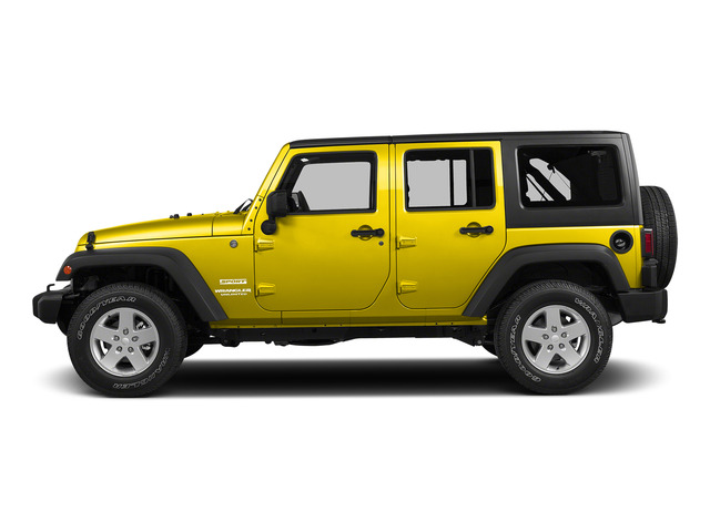 Baja Yellow Clearcoat 2015 Jeep Wrangler Unlimited Pictures Wrangler Unlimited Utility 4D Unlimited Altitude 4WD V6 photos side view