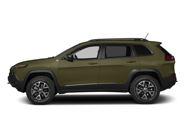 Eco Green Pearlcoat 2015 Jeep Cherokee Pictures Cherokee Utility 4D Trailhawk 4WD photos side view