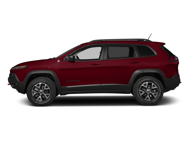 Deep Cherry Red Crystal Pearlcoat 2015 Jeep Cherokee Pictures Cherokee Utility 4D Trailhawk 4WD photos side view