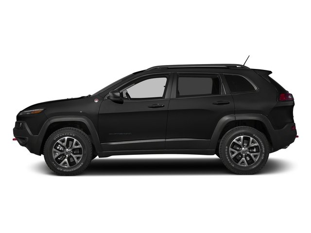 Brilliant Black Crystal Pearlcoat 2015 Jeep Cherokee Pictures Cherokee Utility 4D Trailhawk 4WD photos side view