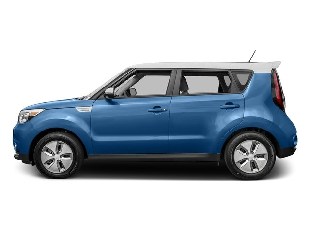 Carribean Blue w/Clear White Roof 2015 Kia Soul EV Pictures Soul EV Wagon 4D EV Electric photos side view