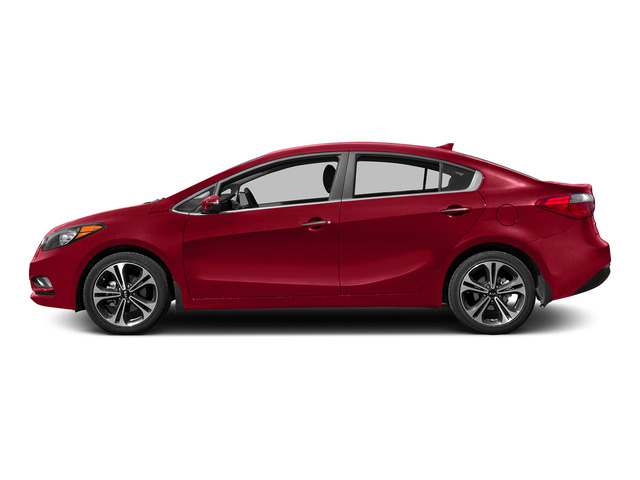Crimson Red 2015 Kia Forte Pictures Forte Sedan 4D EX I4 photos side view