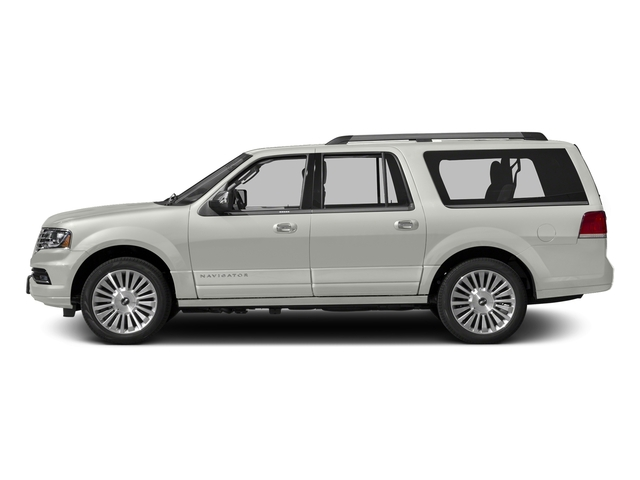White Platinum Metallic Tri-Coat 2015 Lincoln Navigator L Pictures Navigator L Utility 4D Select 2WD V6 Turbo photos side view