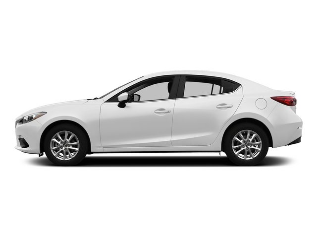 Snowflake White Pearl Mica 2015 Mazda Mazda3 Pictures Mazda3 Sedan 4D s Touring I4 photos side view