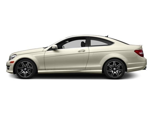 Diamond White Metallic 2015 Mercedes-Benz C-Class Pictures C-Class Coupe 2D C350 V6 photos side view