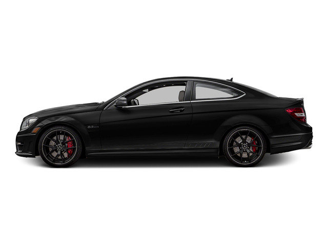 Obsidian Black Metallic 2015 Mercedes-Benz C-Class Pictures C-Class Coupe 2D C63 AMG V8 photos side view