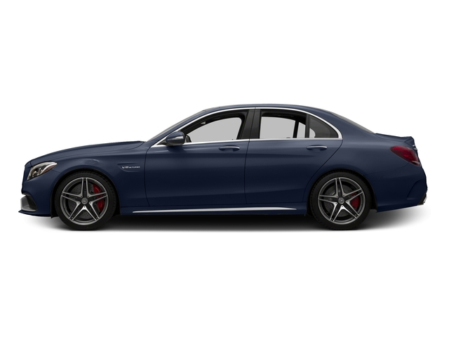 Lunar Blue Metallic 2015 Mercedes-Benz C-Class Pictures C-Class Sedan 4D C63 AMG V8 Turbo photos side view