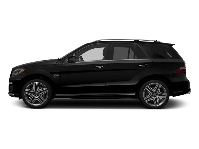 Obsidian Black Metallic 2015 Mercedes-Benz M-Class Pictures M-Class Utility 4D ML63 AMG AWD V8 photos side view