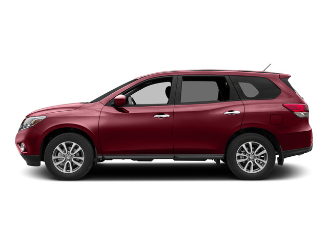 Cayenne Red 2015 Nissan Pathfinder Pictures Pathfinder Utility 4D S 4WD V6 photos side view