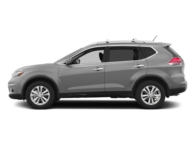 Brilliant Silver 2015 Nissan Rogue Pictures Rogue Utility 4D SV AWD I4 photos side view
