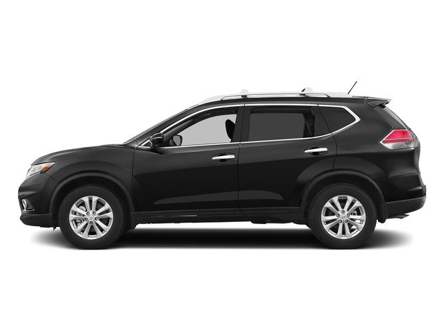 Super Black 2015 Nissan Rogue Pictures Rogue Utility 4D SV AWD I4 photos side view