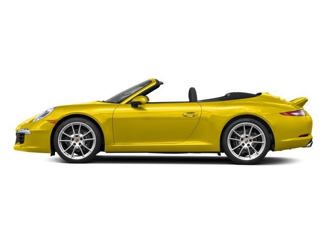 Racing Yellow 2015 Porsche 911 Pictures 911 Cabriolet 2D H6 photos side view