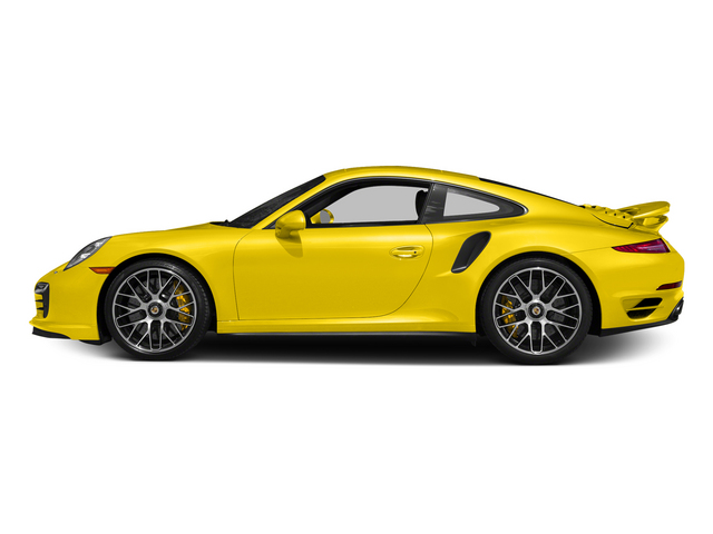Racing Yellow 2015 Porsche 911 Pictures 911 Coupe 2D Turbo S AWD H6 photos side view