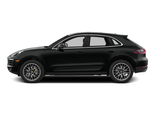 Jet Black Metallic 2015 Porsche Macan Pictures Macan Utility 4D AWD V6 Turbo photos side view