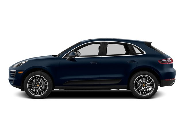 Dark Blue Metallic 2015 Porsche Macan Pictures Macan Utility 4D AWD V6 Turbo photos side view