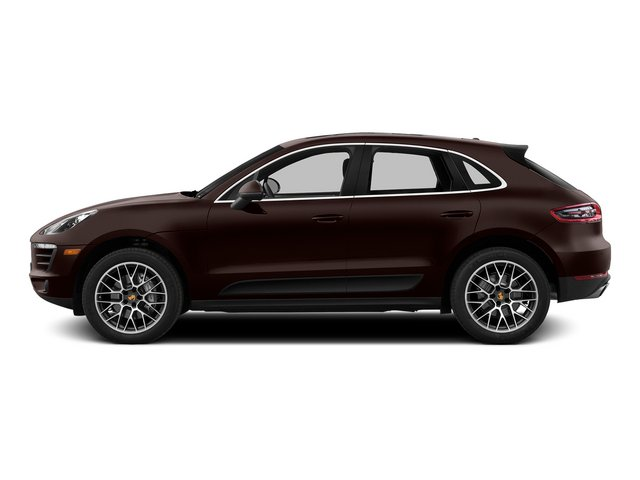 Mahogany Metallic 2015 Porsche Macan Pictures Macan Utility 4D AWD V6 Turbo photos side view