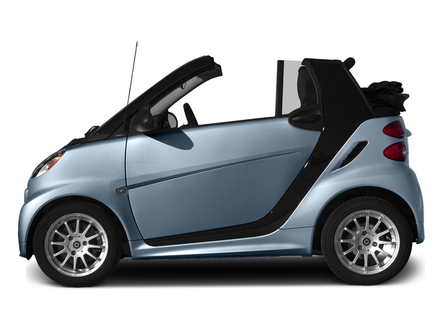 Light Blue Metallic 2015 smart fortwo Pictures fortwo Convertible 2D Passion I3 photos side view