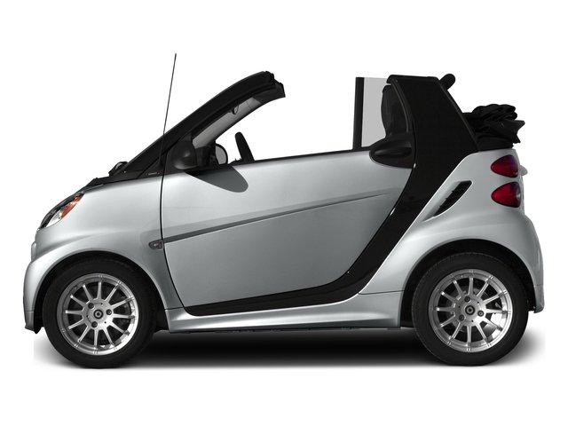 Silver Metallic 2015 smart fortwo Pictures fortwo Convertible 2D Passion I3 photos side view