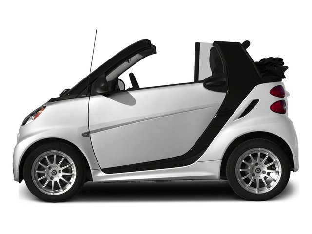 Crystal White 2015 smart fortwo Pictures fortwo Convertible 2D Passion I3 photos side view