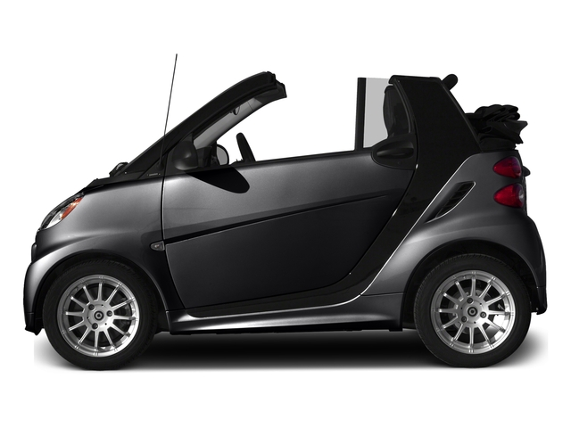 Deep Black 2015 smart fortwo Pictures fortwo Convertible 2D Passion I3 photos side view