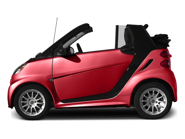Rally Red 2015 smart fortwo Pictures fortwo Convertible 2D Passion I3 photos side view