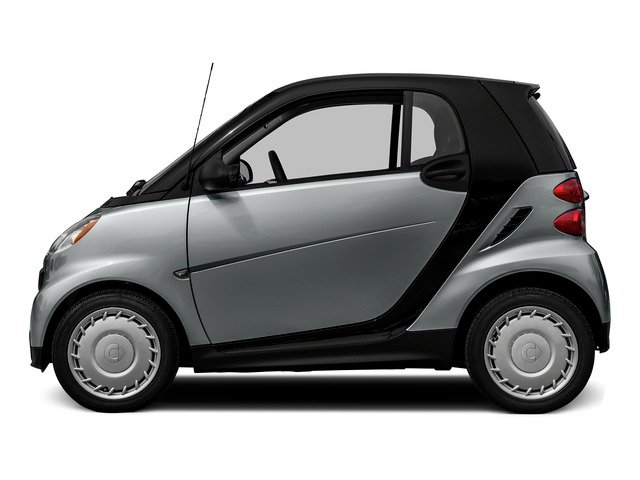 Silver Metallic 2015 smart fortwo Pictures fortwo Coupe 2D Passion I3 photos side view