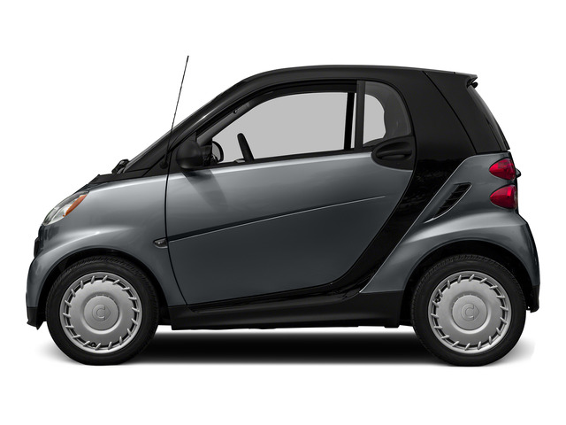 Gray Matte 2015 smart fortwo Pictures fortwo Coupe 2D Passion I3 photos side view