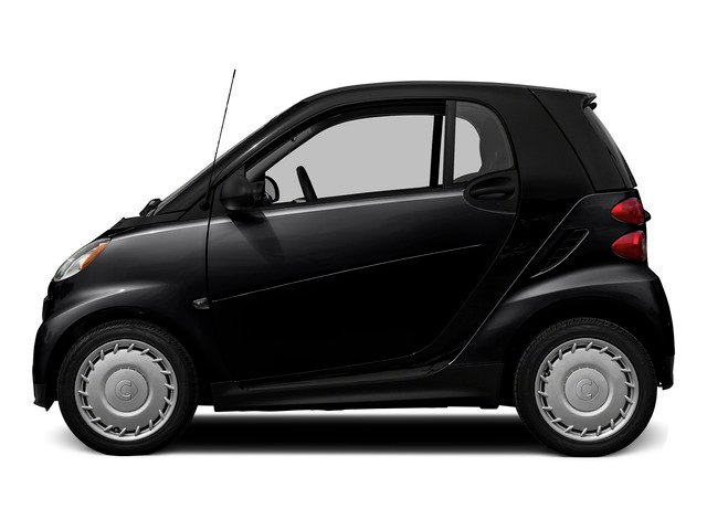 Deep Black 2015 smart fortwo Pictures fortwo Coupe 2D Pure I3 photos side view