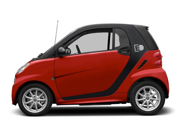 Rally Red 2015 smart fortwo electric drive Pictures fortwo electric drive Coupe 2D Electric photos side view