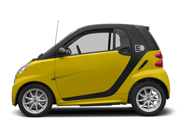 Clear Flame Yellow 2015 smart fortwo electric drive Pictures fortwo electric drive Coupe 2D Electric photos side view