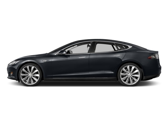 Midnight Silver Metallic 2015 Tesla Motors Model S Pictures Model S Sedan 4D D AWD Electric photos side view