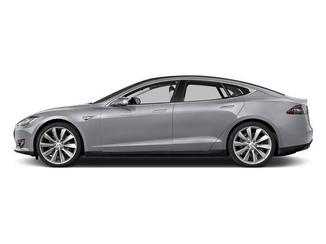 Silver Metallic 2015 Tesla Motors Model S Pictures Model S Sedan 4D D AWD Electric photos side view