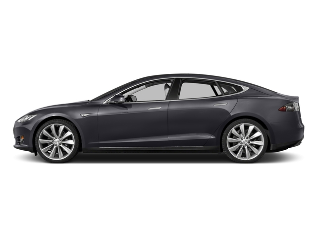Gray Metallic 2015 Tesla Motors Model S Pictures Model S Sedan 4D D AWD Electric photos side view