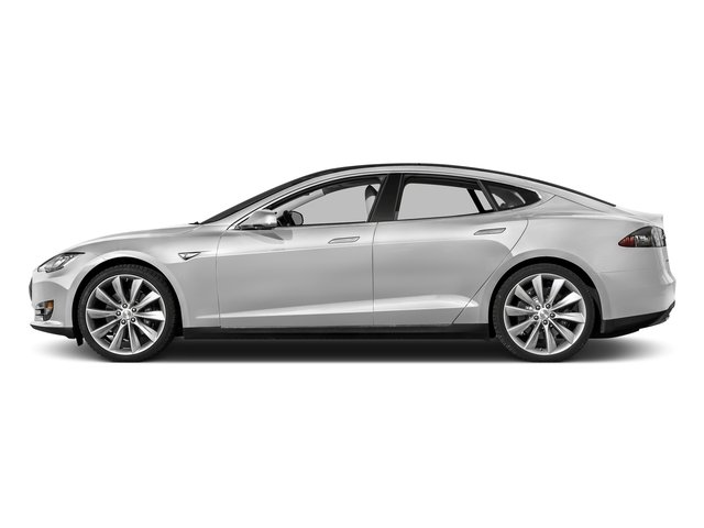 Solid White 2015 Tesla Motors Model S Pictures Model S Sedan 4D D AWD Electric photos side view