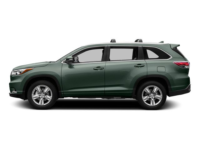 Alumina Jade Metallic 2015 Toyota Highlander Pictures Highlander Utility 4D LE 2WD I4 photos side view