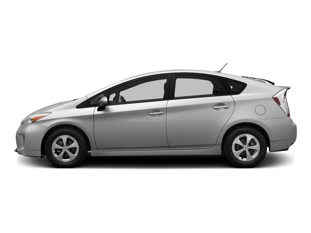 Classic Silver Metallic 2015 Toyota Prius Pictures Prius Liftback 5D Five I4 Hybrid photos side view
