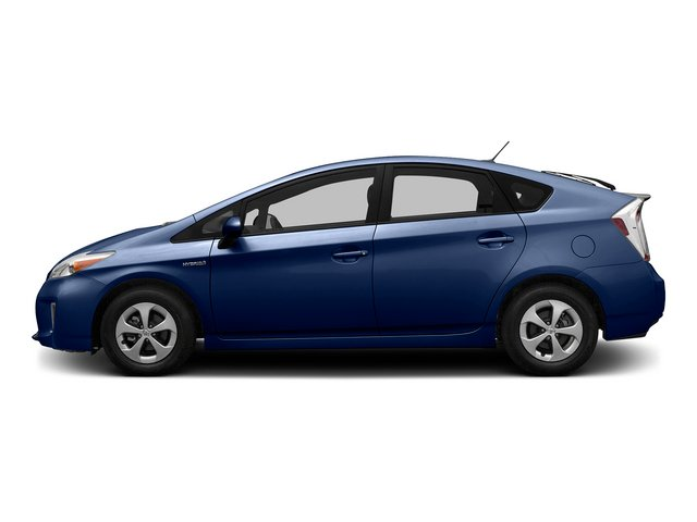 Nautical Blue Metallic 2015 Toyota Prius Pictures Prius Liftback 5D Five I4 Hybrid photos side view