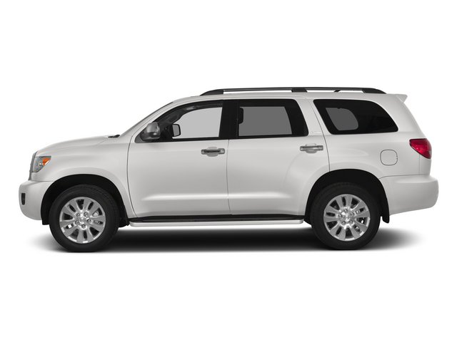 Super White 2015 Toyota Sequoia Pictures Sequoia Utility 4D Limited 2WD V8 photos side view