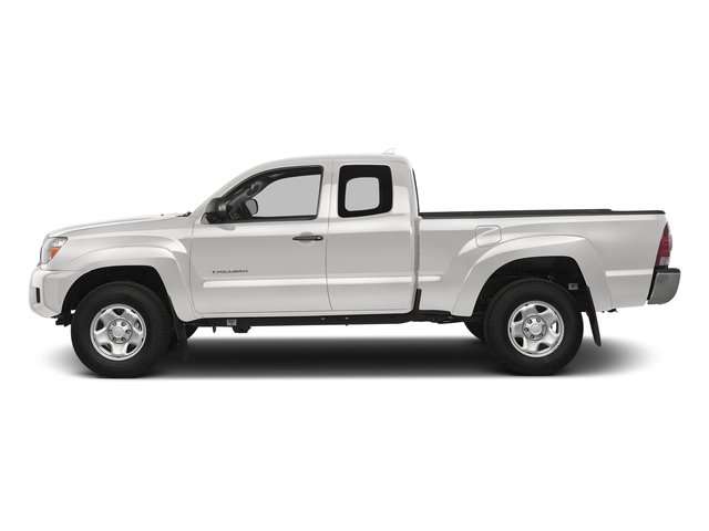 Super White 2015 Toyota Tacoma Pictures Tacoma Base Access Cab 4WD V6 photos side view