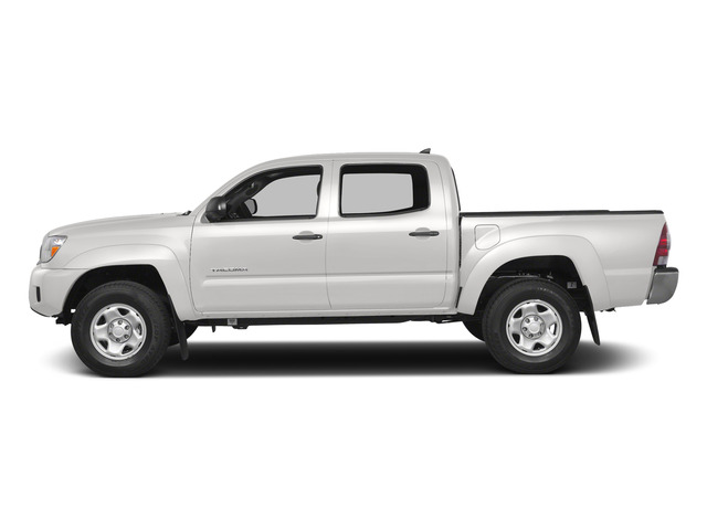 Super White 2015 Toyota Tacoma Pictures Tacoma PreRunner 2WD I4 photos side view