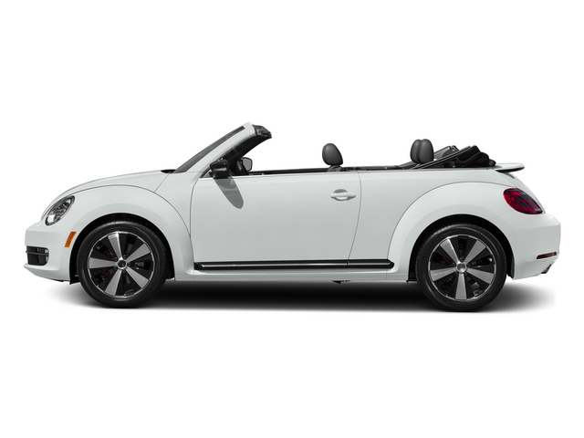 Pure White/Black Roof 2015 Volkswagen Beetle Convertible Pictures Beetle Convertible Convertible 2D TDI I4 photos side view