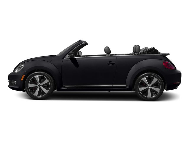 Deep Black Pearl/Black Roof 2015 Volkswagen Beetle Convertible Pictures Beetle Convertible Convertible 2D R-Line I4 Turbo photos side view