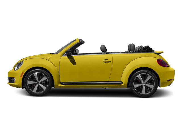 Yellow Rush/Black Roof 2015 Volkswagen Beetle Convertible Pictures Beetle Convertible Convertible 2D TDI I4 photos side view