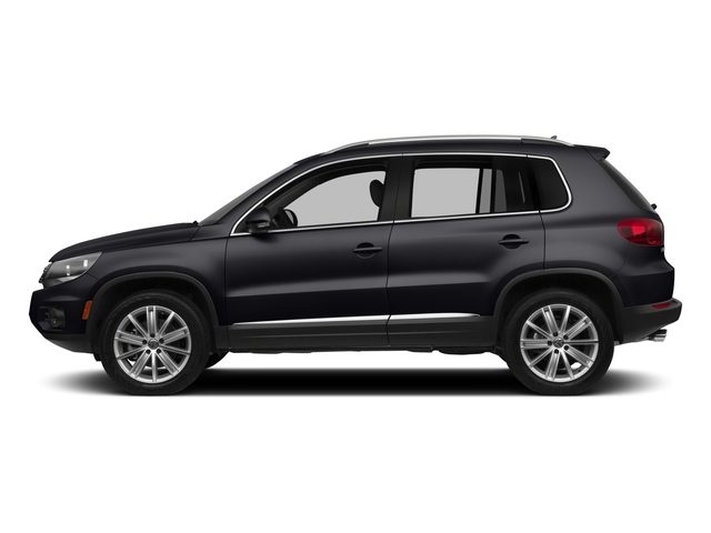 Deep Black Pearl 2015 Volkswagen Tiguan Pictures Tiguan Utility 4D R-Line AWD I4 Turbo photos side view